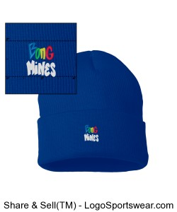 Bong Mines Beanie (Royal Blue) Design Zoom