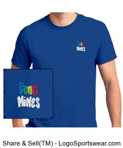 Bong Mines T-shirt (Royal) Design Zoom